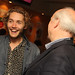 Richard Williams and Toby Regbo at a pre-awards drinks reception