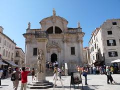 Orlando's column & St. Blaise Church, Lula Square - Dubrovnik (Ward & Karen) Tags: croatia dubrovnik