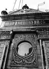 Liquors (B&W) (avalard) Tags: heritage architecture vintage victorian belfast tiles northernireland pubs nationaltrust thecrown countyantrim publichouse oddmanout