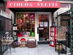 Time for Crazy Eddie's Christmas Sale (Eddie C3) Tags: newyorkcity storefronts streetscenes storewindows cinemaveritethriftshop