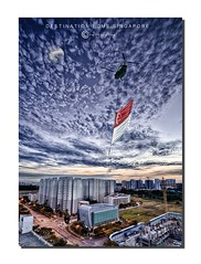 Home (Chee.Keong) Tags: city sunset sky moon building art church beautiful architecture clouds landscape flying photo nikon scenery singapore photographer flag scenic best flats helicopter constructions d800 nationalday 1635mmf4