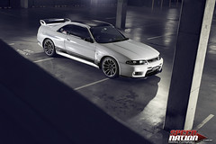 Eric's R33 GT-R (Mr Matboy) Tags: white car skyline night nissan automotive r33 jap jdm strobe gtr worldcars matboy mattheweveringham