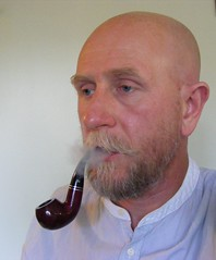 002 (treeman973) Tags: smoke pipe bald shavedhead baldguy pipesmoker pipesmoke