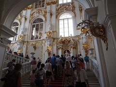 The Hermitage (Winter Palace), St Petersburg (ChihPing) Tags: travel winter museum stpetersburg russia petersburg olympus palace jordan staircase hermitage omd       em5