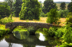 untitled-85_6_9_tonemapped (Paula Cheese) Tags: old uk bridge trees england nature water leaves nikon europe peakdistrictnationalpark haddonhall 1755 photomatix cs5 xposures d300s photoshopcc