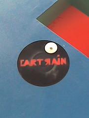 Cartrain disc (Niecieden) Tags: cameraphone blue red streetart london graffiti vinyl may shoreditch 2007 cartrain nokia6111 3dgraffiti niecieden