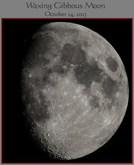 Waxing Gibbous Moon October 14 2013 (LeisurelyScientist.com) Tags: summer sky moon night canon timelapse october time craters telescope crater astrophotography astronomy nightsky universe phase gibbous waxing waxinggibbous solarsystem lapse meade phases lx90 2013 tomwildoner