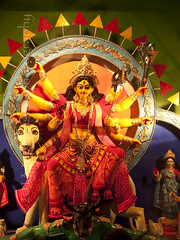 Durga Puja 2013, Kathgola Lane, Chinsurah, West Bengal (Tapas Biswas) Tags: travel light woman india abstract color colour art girl face festival lady female festive outdoors artwork eyes hands nikon women nightshot image artistic antique candid crafts indian religion creative goddess culture craft creation clay hindu bengal puja durga durgapuja devine artisticphotography westbengal tranquilscene candidphotography d90 indianfestival indianculture hindugoddess durgafestival creativephotography festivalofcolor nikond90 clayidol nikod90 nikond9o incrediblebengal durgapuja2013
