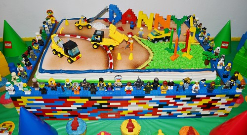 Amazing Lego Birthday Cake