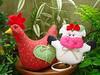 GALINHA PORTA CHÁ (OU PESO DE PORTA) E VAQUINHA PORTA PANO DE PRATO! (Lucimar Lima) Tags: de galinha pano e ou porta patchwork prato peso chá vaquinha