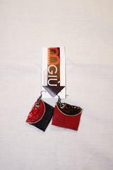 orecchine_riciclo_pelle e cialde_black&red