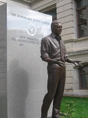 "Statue of Jimmy Carter • <a style=""font-size:0.8em;"" href=""http://www.flickr.com/photos/109120354@N07/11047343704/"" target=""_blank"">View on Flickr</a>"