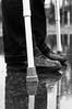 Four-legged walk (glukorizon) Tags: blackandwhite reflection monochrome puddle shoe pants zwartwit leg been number health schoen plas crutch kruk twee odc reflectie spiegeling broek monochroom gezondheid thingsinarow getal odc2 ourdailychallenge