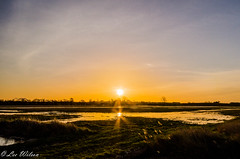 Flooded Sunrise (Lee532) Tags: new storm holland sunrise nikon flooding north lincolnshire surge humber d5100