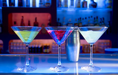 cocktail drinks (janvanderveeken1) Tags: pink blue party color ice glass yellow horizontal bar club night disco photography spain pub drink beverage straw martini nightclub cocktail alcohol shaker nightlife happyhour mixeddrink
