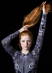Jasmine (C Drury Photography) Tags: red portrait canon studio ginger head 7d