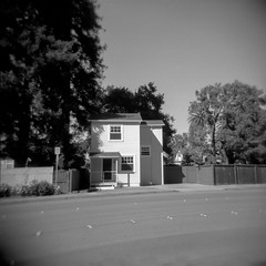 home (Super G) Tags: blackandwhite bw film square holga selfdeveloped kodaktrix400 d7695mins68d11 theplacesirideto