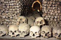 Decorative (Kostnice Sedlec) (fotoeins) Tags: travel sculpture church canon eos skull ossuary kutnahora czechrepublic bone kostnice xsi bonechurch beinhaus eos450d henrylee 450d fotoeins canonefs1855mmf3556isii henrylflee fotoeinscom