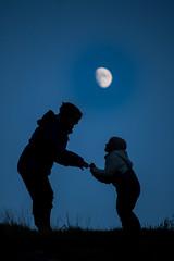 Moon dance (KrisScott) Tags: blue moon nature norway nikon child connection d3100