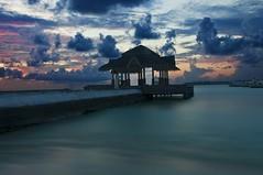 Let's call it a day! (Wajahat Mahmood) Tags: longexposure sunset sky color beach island pier colorful asia dusk resort holidayinn maldives kandooma kandoomafushi