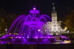 La Fontaine de Tourny, Québec (Réal Filion) Tags: canada québec ville city fontaine fountain nuit night parlement parliament quebeccity