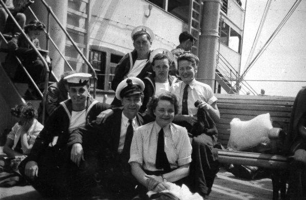 On board RMS Samaria Homeward Bound 1940s,,