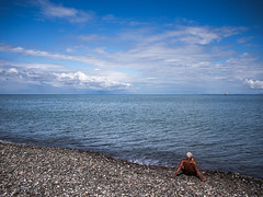 Black sea (Miha Pavlin) Tags: sea black beach georgia seaside europe solitude caucasus lonely solitary eastern blacksea tanning sakartvelo kavkaz gruzia gruzija