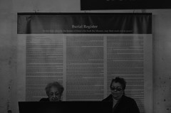 Untitled (ajkpix) Tags: california street people urban blackandwhite bw cemetery blackwhite women sanjuancapistrano blackwhitephotos burialregister scattidistrada missionofsanjuancapistarno