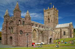 St David's Cathedral, Pembrokeshire, Wales. Wishing everyone a Happy St Davids Day and a Happy weekend. (Minoltakid) Tags: old uk people buil