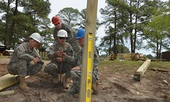 140411-Z-OU450-387 (North Carolina National Guard) Tags: bridge trees professional generators wetlands build skill deployed humvees legionlake fortjackson chainsaws augers skidsteers northcarolinanationalguard 878thengineercompany civilianexperience warrantofficertimothycalton