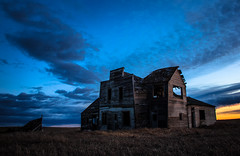 Aylmer (Rodney Harvey) Tags: railroad sunset abandoned rural town store decay ghost spooky northdakota