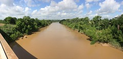 The muddy waters of the Brazos River (mkmccrary) Tags: panorama river photostream brazosriver fortbendcounty simontontexas orchardtexas iphoneography simontontx