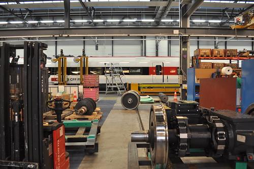 SBB RABDe 500 007 ICN im Industriewerk Yverdon