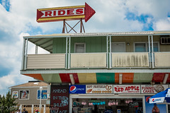 Rides and Snacks (MarkNelsonJr84) Tags: ocean park city carnival summer cakes hotel amusement md nikon picnic candy cloudy tables boardwalk apples rides pepsi noon funnel corndogs partly 2015 snackshop d7100