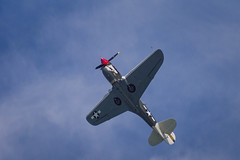 Curtiss P-40N Warhawk (F-AZKU) (jdelrivero) Tags: blue sky azul airplane gijn events ciudad places asturias colores cielo elements lugares provincia avion eventos elementos playasanlorenzo p40nwrhawk gijonairshow2015