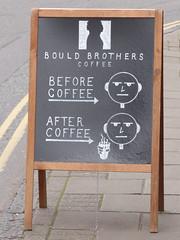 Before Coffee After Coffee Chalk Board Cambridge Mar 2017 (symonmreynolds) Tags: beforecoffee aftercoffee chalkboard cambridge march 2017