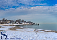 Winter walk on the beach (Singing With Light) Tags: 11th 2016 2017 alpha6500 ct duckpond february gulfbeach milford mirrorless singingwithlight a6500 photography singingwithlightphotography sony winter