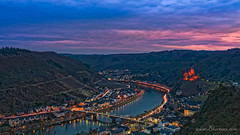 out of the blue - Cochem @ blue hour (andreas.bluetner) Tags: andreasbluetner httpwwwbluetnercom world traveldestination travelandtourism tourism terrific superb sprawling splendid spectacle skyline rhinelandpalatinate river purple publicity promotion postkarte pink peace palace outdoor naturallight mosel monument marvelous longexposure landscape knightscastle history holiday fantastic europe cochem colours city castle beautiful attraction reichsburgcochem relegion poster park moseltal monastery middleages germany wappenvoncochem vulkaneifel vineyard timelapse street light illuminated honor excellent elevatedview eifel bridge business illerich rheinlandpfalz deutschland