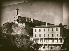 Alcatraz (Feldore) Tags: alcatraz vintage sepia wet plate feldore mchugh faux prison ruins building em1 olympus 1240mm california