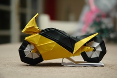 I Could Harley Wait to Show You These Origami Vehicles (Origami.me) Tags: origami papercraft paper fold folding craft diy motorcycle vehicles