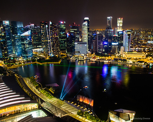 La Marina vue d'en haut - Singapour