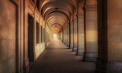 Gone (Chrisnaton) Tags: passage walking bern laubengang arcade intothelight architecture by gone