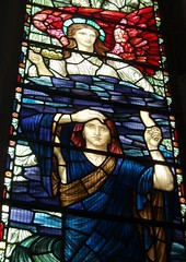 Holiday Glass, Chelmsford Cathedral (Aidan McRae Thomson) Tags: chelmsford cathedral church essex stainedglass window preraphaelite henryholiday