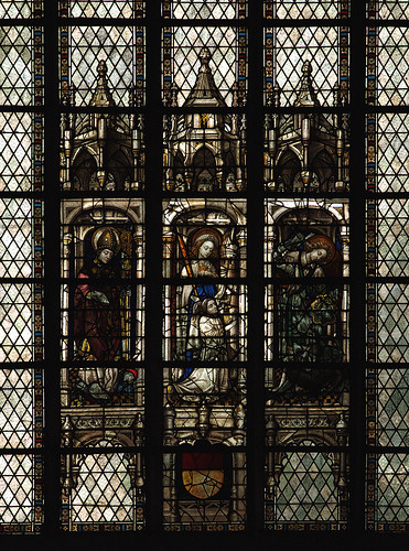 Lier, Vlaanderen, Sint-Gummaruskerk, stained glass window, south aisle