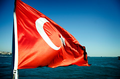 It is Turkey (Q.Charlene) Tags: blue sea summer sunshine turkey golden dance nikon seagull istanbul mosque horn galata