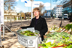 Saturday 20th April, 2013 Brighton & Hove Farmers Market opens on Old Steine, Brighton