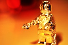 Tin Foil Lego Man (Mr Clicker / Davin) Tags: play mr foil davin clicker