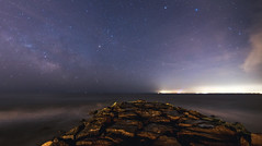It's always darkest before the dawn (Cbakley) Tags: ocean stars newjersey jetty astronomy capemay jerseyshore milkyway 5dmkii chrisbakley