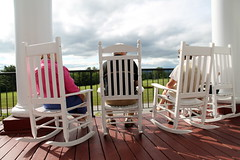 A Stress Free Zone (MikeWeinhold) Tags: old vacation america canon golf relax rebel maine newengland poland porch t3 rocking stress folks rockingchairs polandspring polandsprings stressfree stressfreezone rebelt3