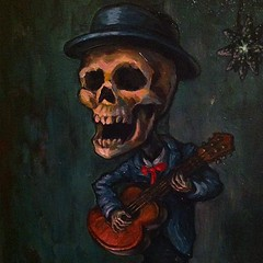 Play of the Dead I am going to miss this one. #teod #teodtomlinson #skull #dayofthedead #dtla #artwalk #losangelesartist #thehivegallery #hivegallery (Teod Tomlinson) Tags: art birds painting toys gallery surreal pop oil expressionist raven hive tool impressionist juxtapoz the